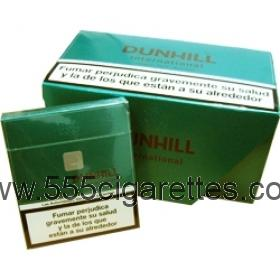 Dunhill International green box cigarettes