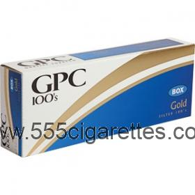 GPC Gold 100's cigarettes