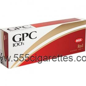 GPC Red 100's cigarettes