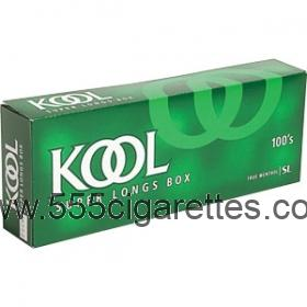 Kool 100's box cigarettes