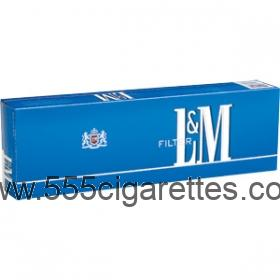 L&M Blue Pack 100's Cigarettes