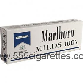 Marlboro Menthol Blue Pack 100's box cigarettes
