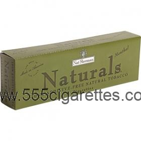 Nat Sherman Naturals Menthol Kings cigarettes