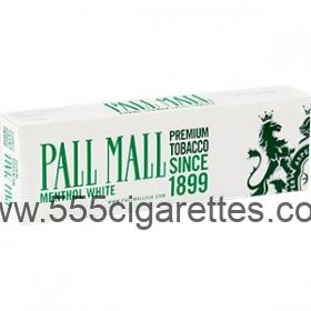 Pall Mall White 100's Cigarettes