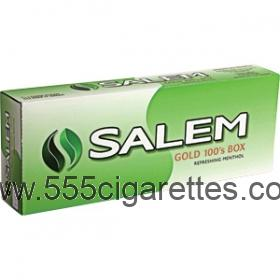 Salem Gold 100's box cigarettes