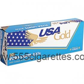 USA Gold Blue 100's cigarettes