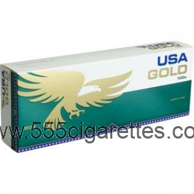 USA Gold Menthol Dark Green 100's cigarettes