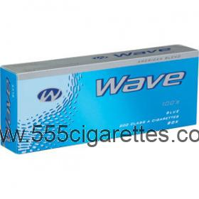 Wave Blue 100's cigarettes