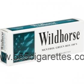 Wildhorse Menthol Green 100's Cigarettes