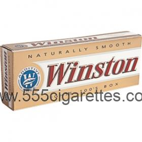 Winston Gold 100's box cigarettes