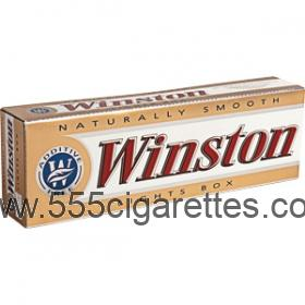 Winston Gold 85 box cigarettes