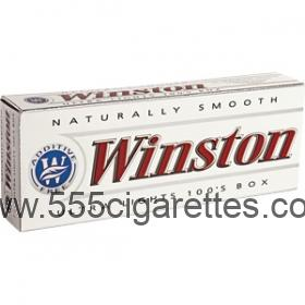 Winston White 100's box cigarettes